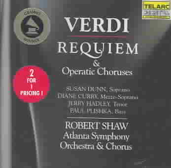 VERDI:REQUIEM BY SHAW/ASO (CD)